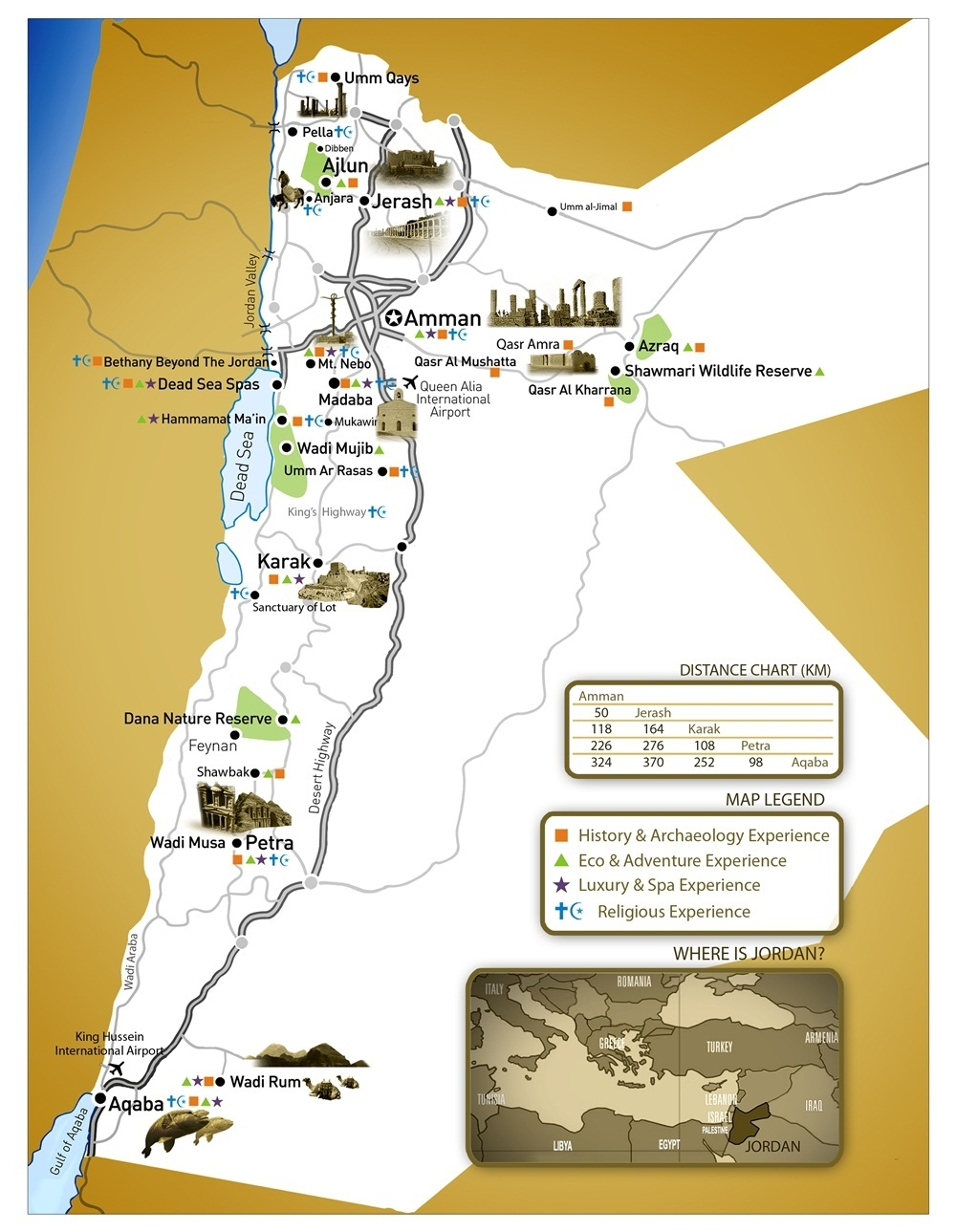 Tourist map of jordan jordan tourist map jordan tourist map map of jordan jordan tours travel gumiabroncs Images