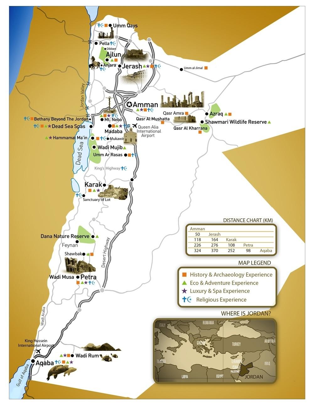 Map Of Jordan Jordan Tours Travel - Map of jordan